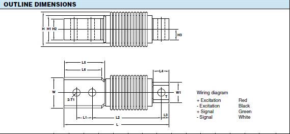 HBB-50kg称重传感器参数